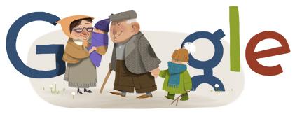 Google Logo: Grandparents' Day 2012 in Poland