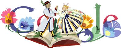 Google Logo: Władysław Reymont's 145th Birthday, Polish Novelist and Nobel Prize in Literature