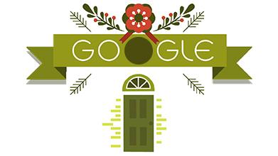 Strona główna Google w dniu 25 grudnia (źródło – Google.com)