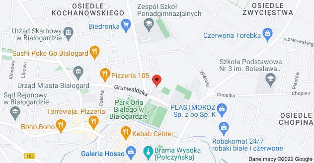 Mapa: Grunwaldzka 49, Białogard