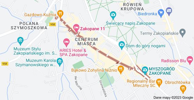 Mapa: Krupówki, Zakopane