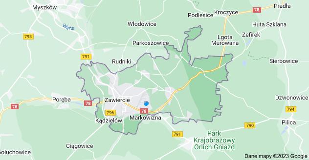 Mapa: Zawiercie