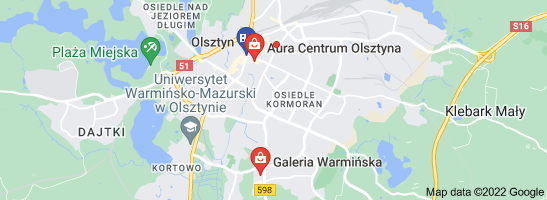 Map of galeria MINI Olsztyn