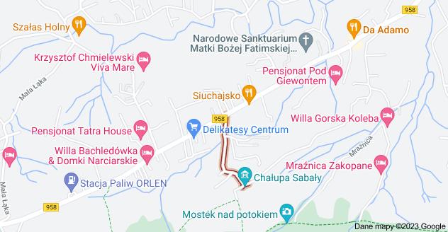 Mapa: Krzeptówki, Zakopane