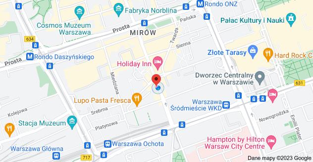 Mapa: Żelazna 29, Warszawa