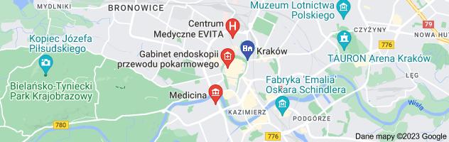 Mapa kolonoskopia krakw