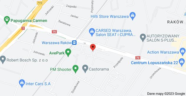 Mapa: Łopuszańska 53, 02-220 Warszawa